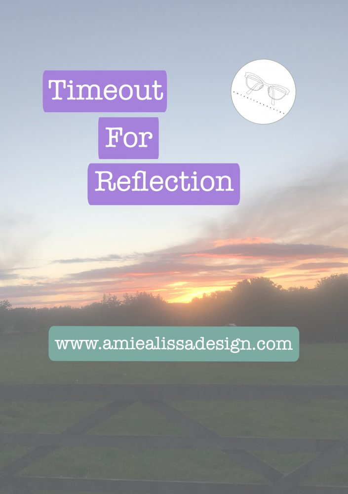 Taking timeout for reflection and regain focus on what is important
