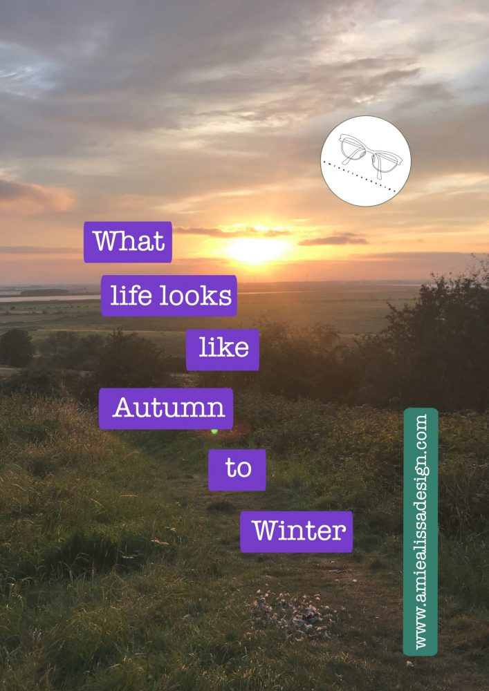 What does life look like as we move rapidly from Autumn into Winter?