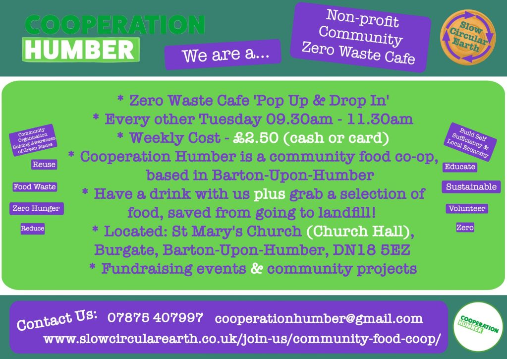 Cooperation Humber Zero Waste Cafe Pop Up and Drop In
