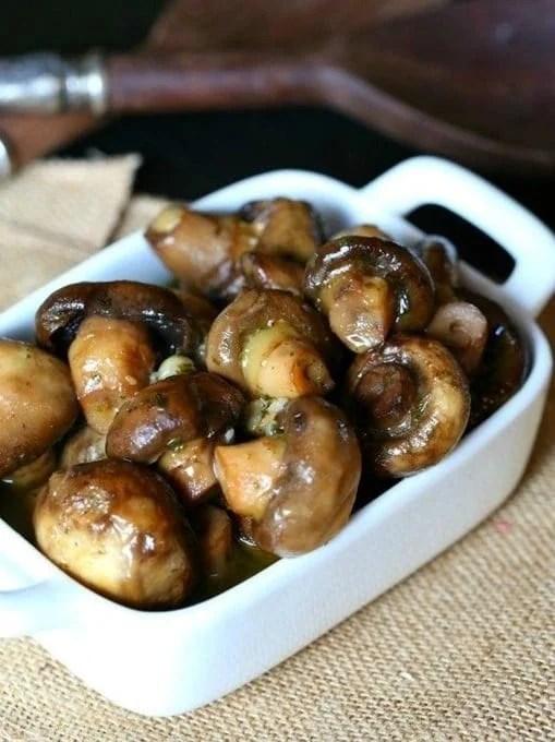 5-Ingredient Garlic Ranch Mushrooms