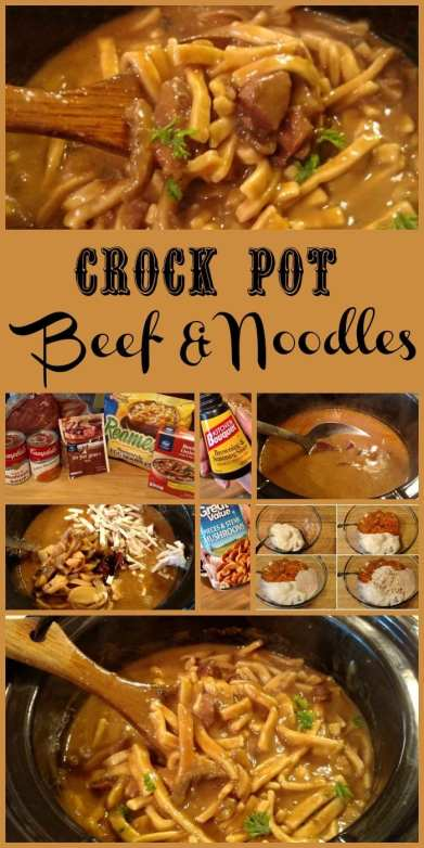 Crock Pot Beef And Noodles 187 Slow Cooker Kitchen