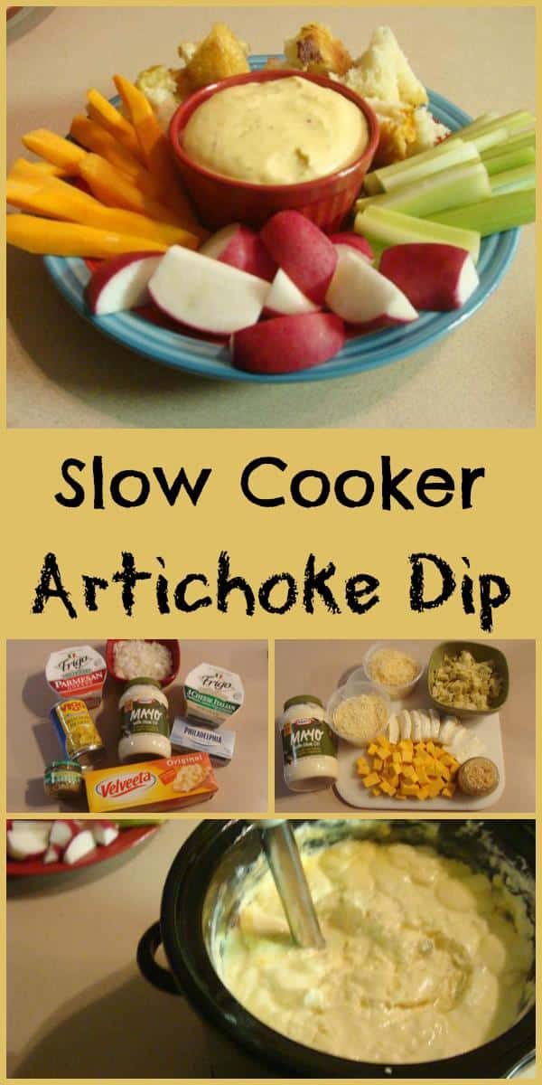 Slow Cooker Hot Artichoke. Find this yumminess & more @ https://www.slowcookerkitchen.com