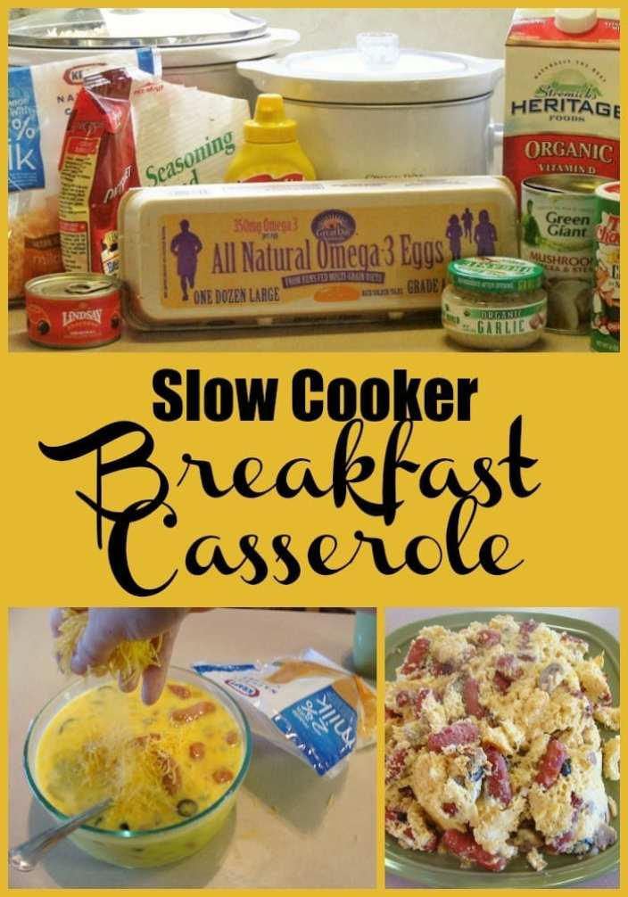 Slow Cooker Breakfast Casserole! Find this & more @ https://www.slowcookerkitchen.com