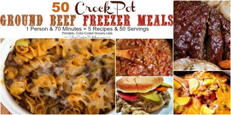 Ground beef crock pot recipes freezer meals for Meals that can be made with ground beef