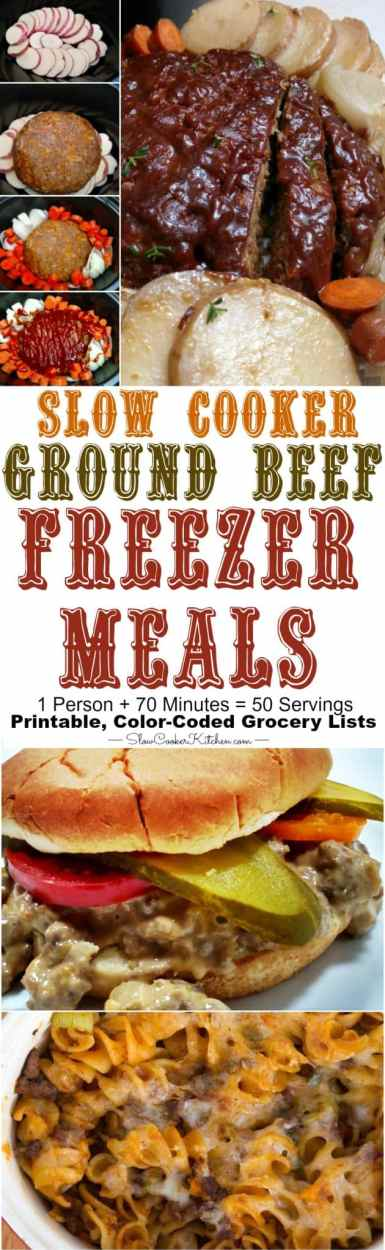 Crock Pot Ground Beef Freezer Meals