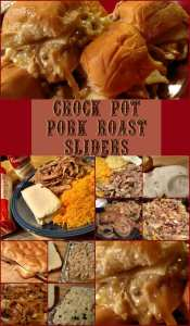 Crock Pot Pork Roast Sliders! Find this & more yumminess @ https://www.slowcookerkitchen.com