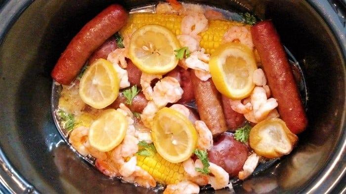 Crock Pot Shrimp and Sausage Dinner