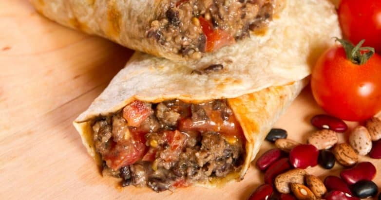 crockpot chili burritos