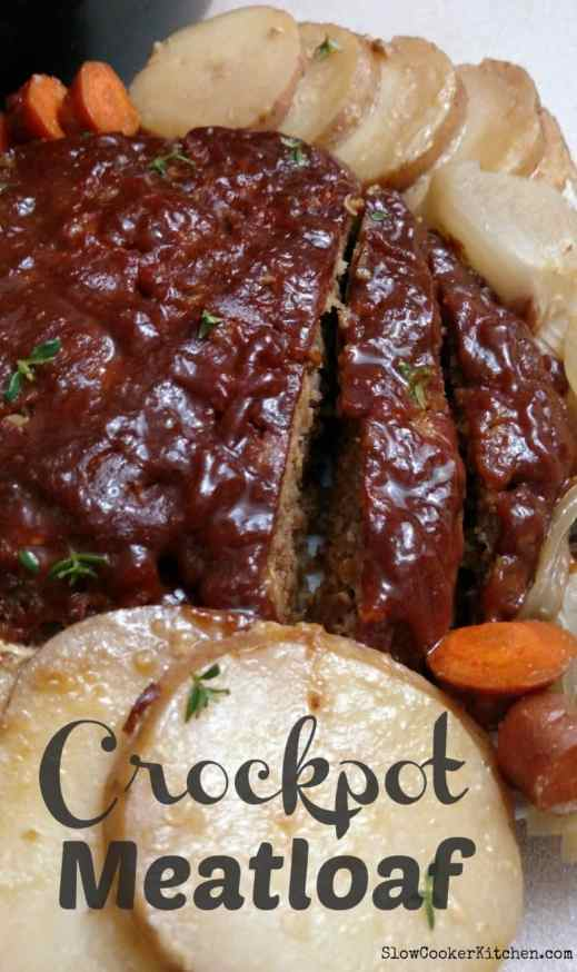 easy cheesy crockpot meatloaf dinner
