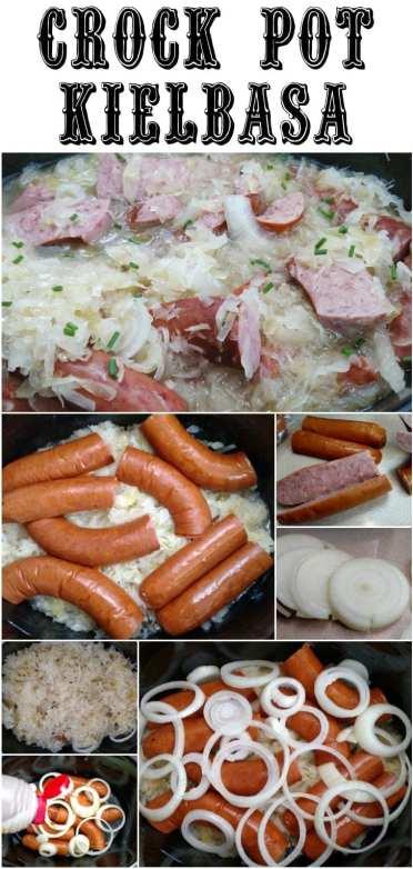Crock Pot Kielbasa & Kraut