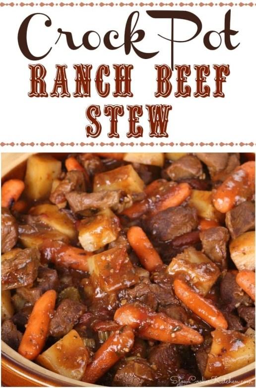 Crock Pot Ranch Beef Stew