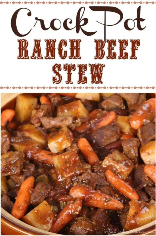 Crock Pot Ranch Beef Stew