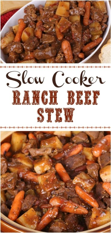 Slow Cooker Ranch Beef Stew
