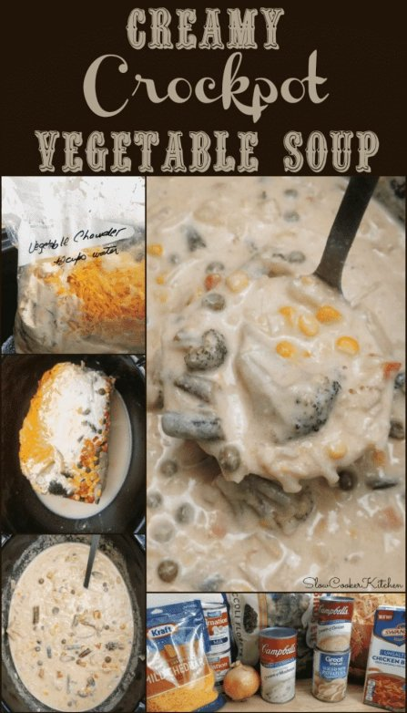 Creamy Crockpot Vegetable Soup