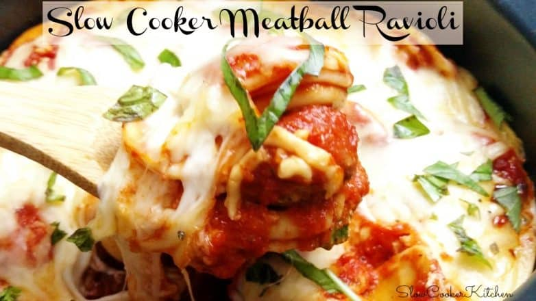 Crock Pot Meatball Ravioli