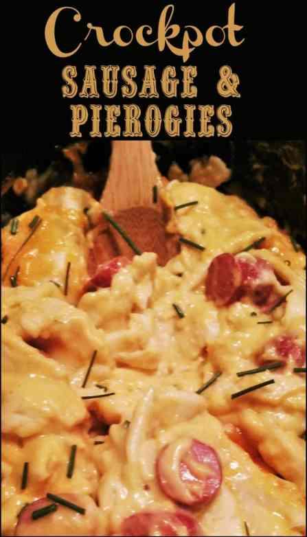Crock Pot Pierogies & Sausage