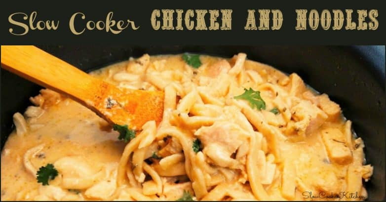 Slow Cooker Chicken and Noodles