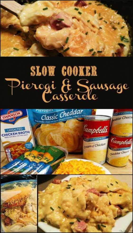 Crock Pot Sausage Pierogies