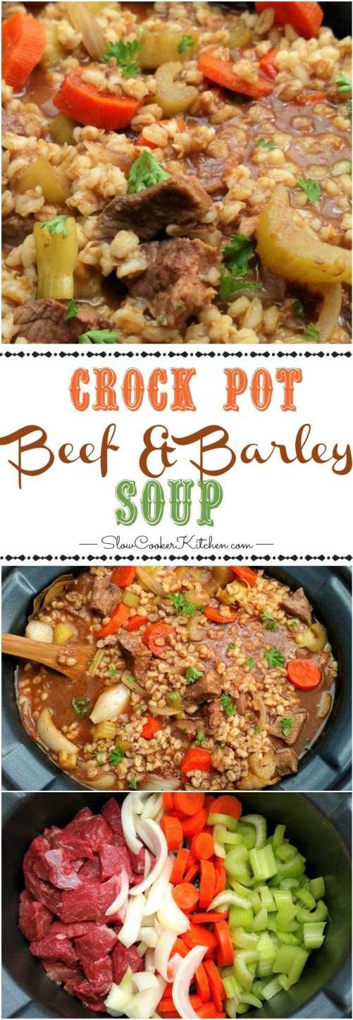 Beef and Barley Soup Crock Pot