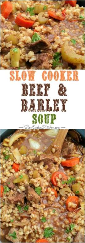 Beef and Barley Slow Cooker Soup