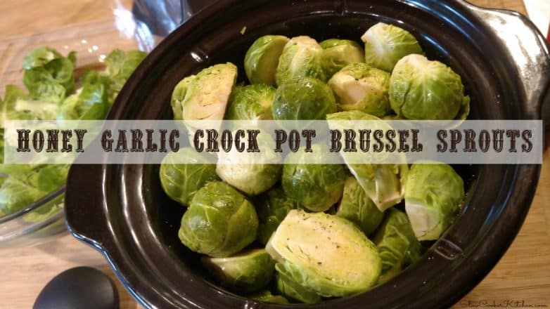 Honey Garlic Crock Pot Brussel Sprouts