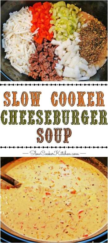 cheeseburger soup crock pot