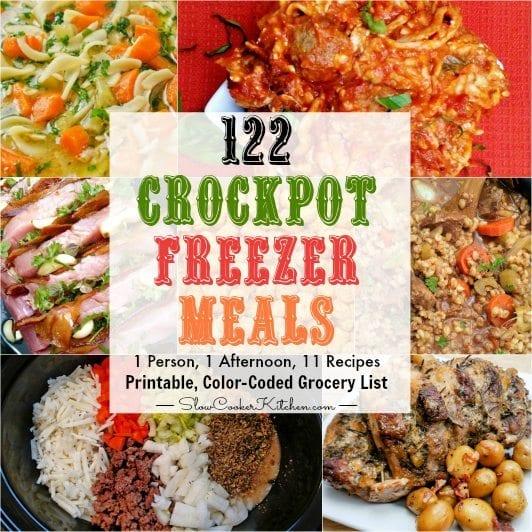 122 freezer crockpot meals in 4 1 4 hours slowcookerkitchen com