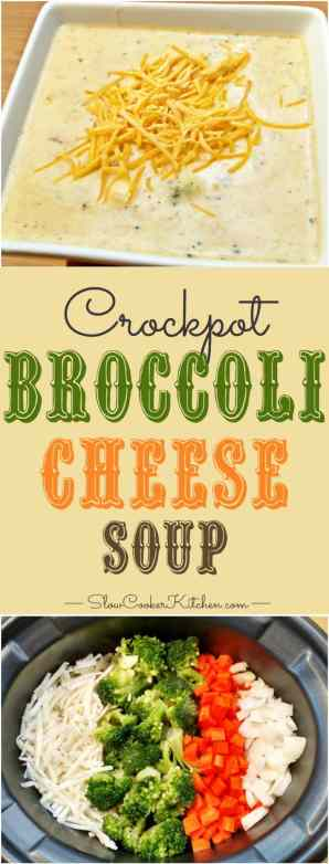 Love creamy soups? Try this slow cooker broccoli cheese soup! It's warm, creamy and absolutely delicious...excellent comfort food | SlowCookerKitchen.com