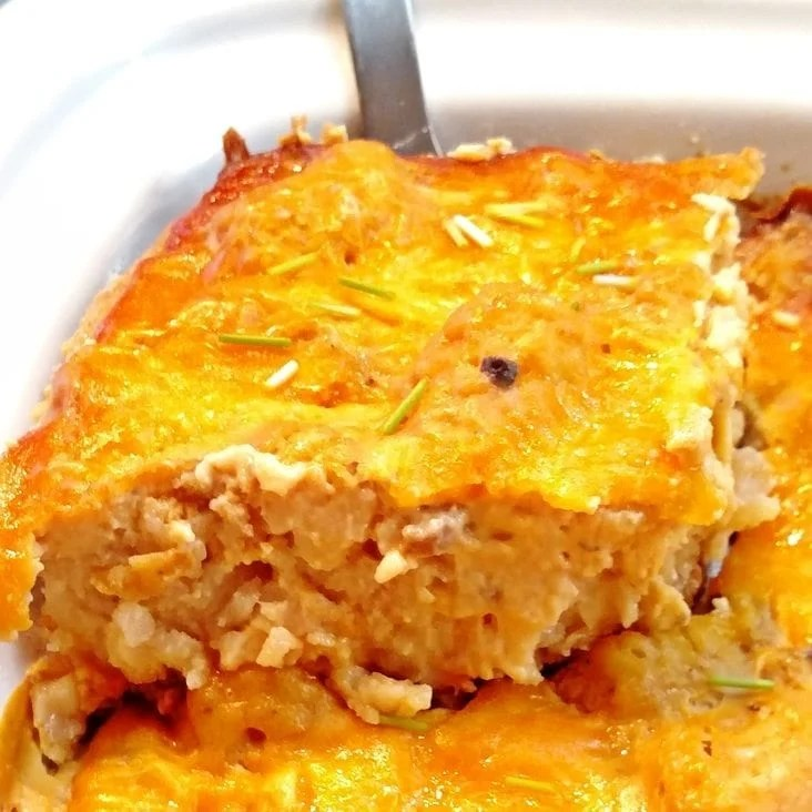 Bacon Ranch Cheeseburger Tater Tot Casserole
