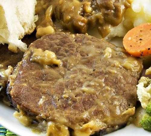 3-Ingredient Crock Pot Swiss Steak Dinner