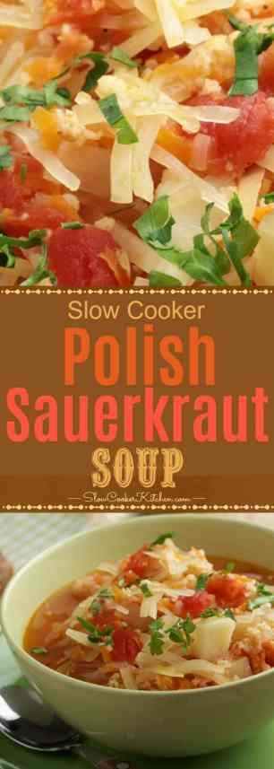 Crockpot Kapusnyak is a Polish Sauerkraut Soup and delicious