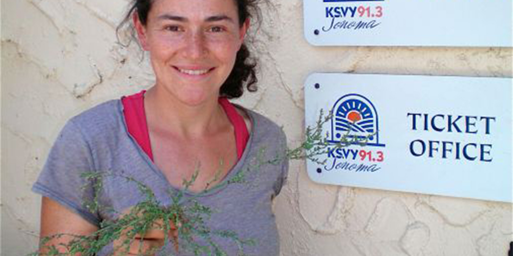 Rachel Kohn Obut, the Farm Manager at Sweetwater Spectrum in the town of Sonoma