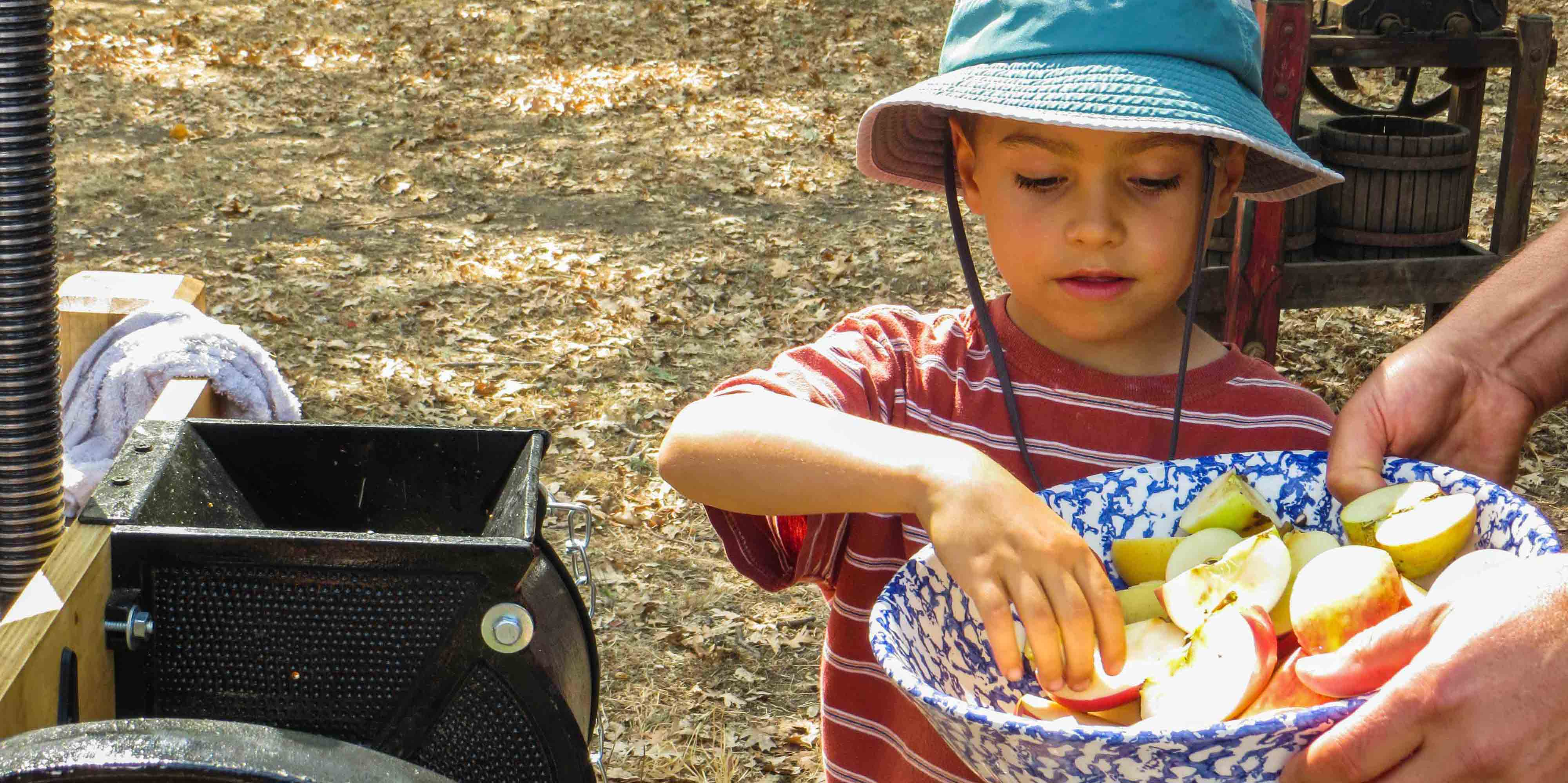 Apple pressing with the Sonoma Land Trust