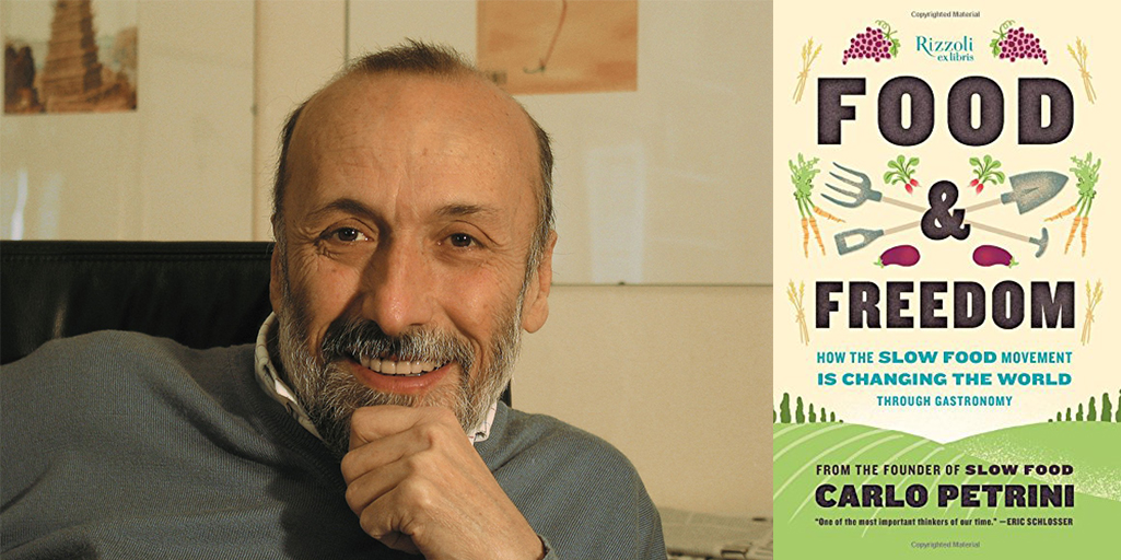 Carlo Pretrini with his new book Food and Freedom, section III: Free Network