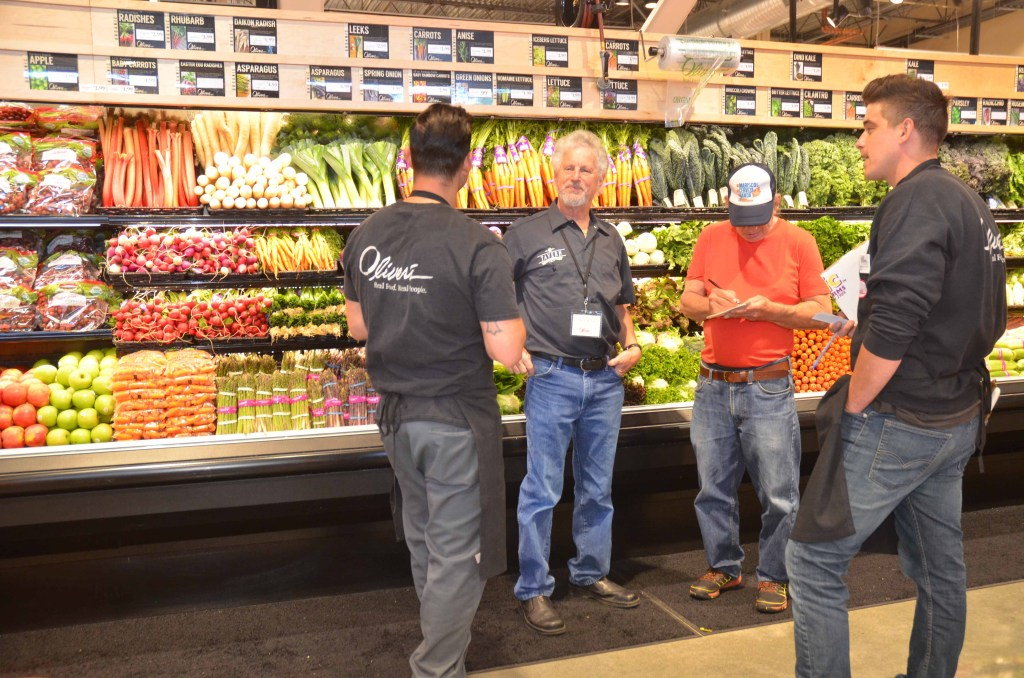 I enjoyed talking with Steve Maass, the founder and owner of Oliver's Market, along with Mike Petersen, Jeritt Skelton, Ricardo Ortiz, and Huy Ma.