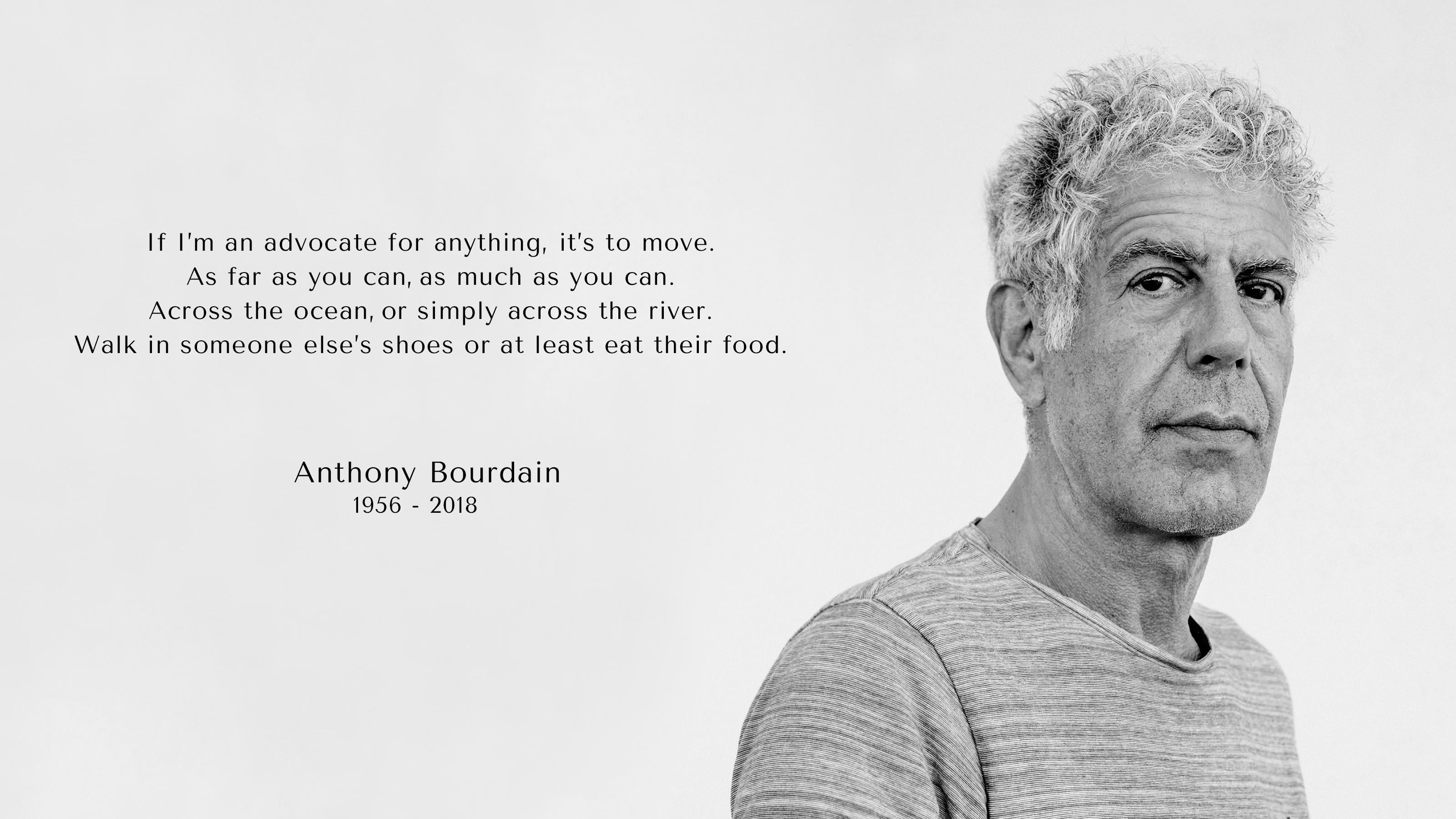 Anthony Bourdain, 1956–2018