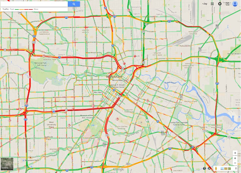 Top Houston Traffic Map Images Printable Map New Bartosandrini Com