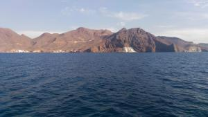 Cabo de Gata with its white stone formation.