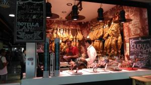 Mercado San Agustin, where we bought ham, wine and olive oil