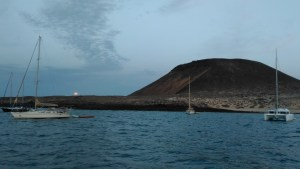 Anchorage at the Playa Francesa, Isla Graciosa, Lanzarote.