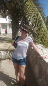 Me, drenched. I fell in the water beaching our dinghy! Sal Rei, Boasvista.