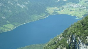 View of Lake Bohinj from Mt. Vogel