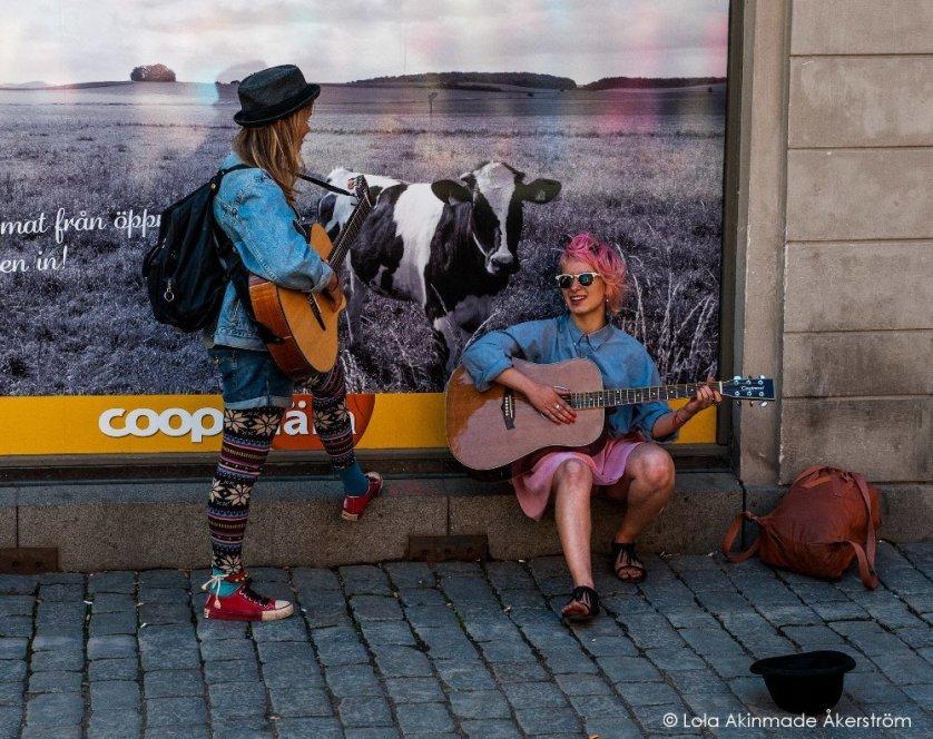 Street performers in Stockholm