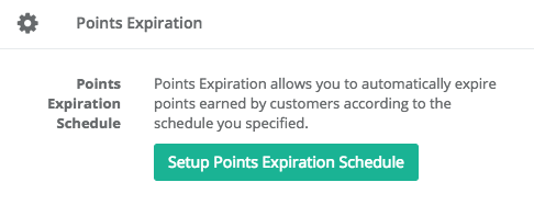 setup points expiration schedule
