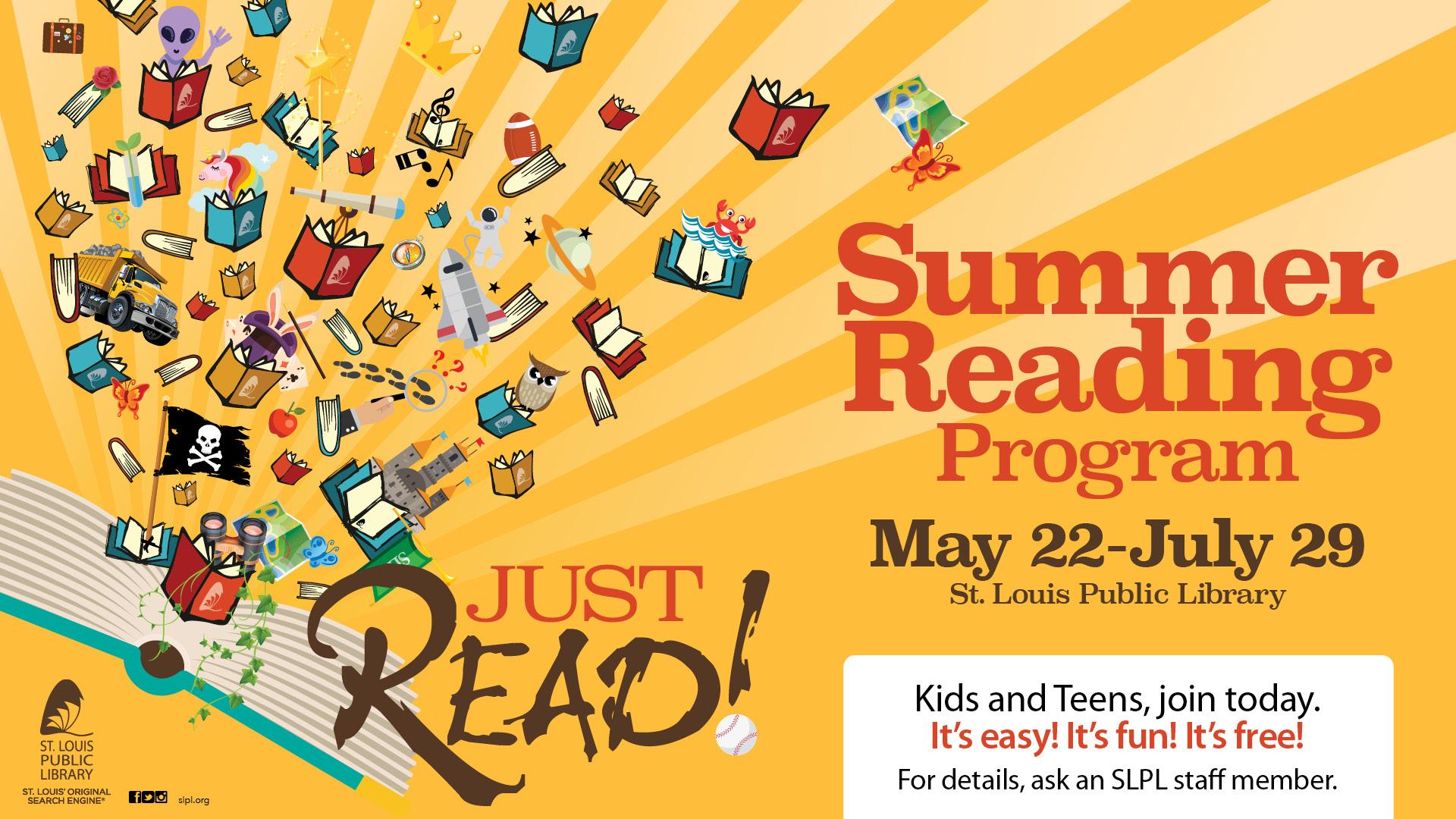 Just Read Summer Reading Slpl
