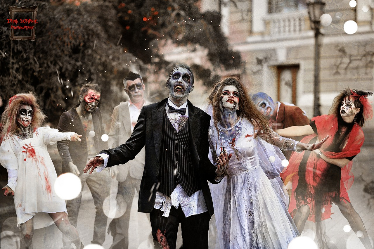 This Zombie Wedding Photo Shoot Looks Like A Bloody Good Time