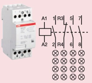 Contactor  4 Circuit  24 Amp: High Quality ABB Contactor