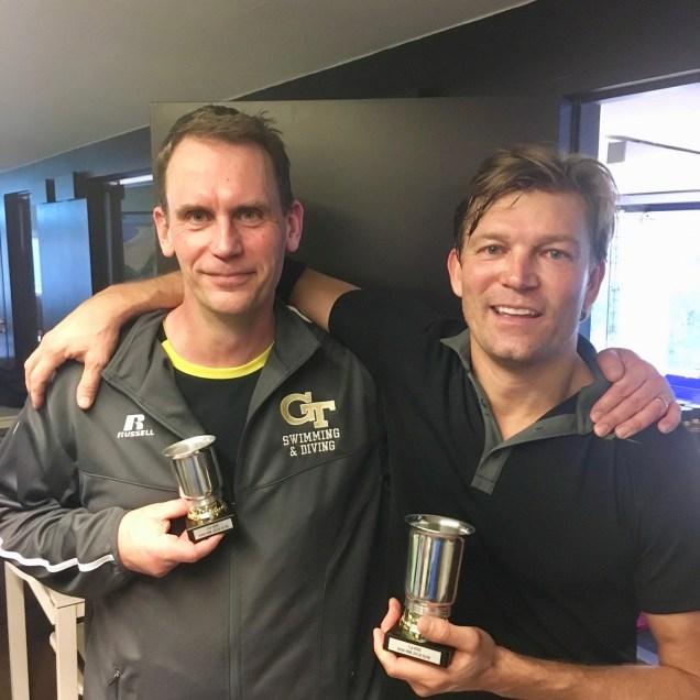 Finalparet i HSB Anders Nilsson och Marcus Allbäck. Marcus blev mästare efter en sevärd final.