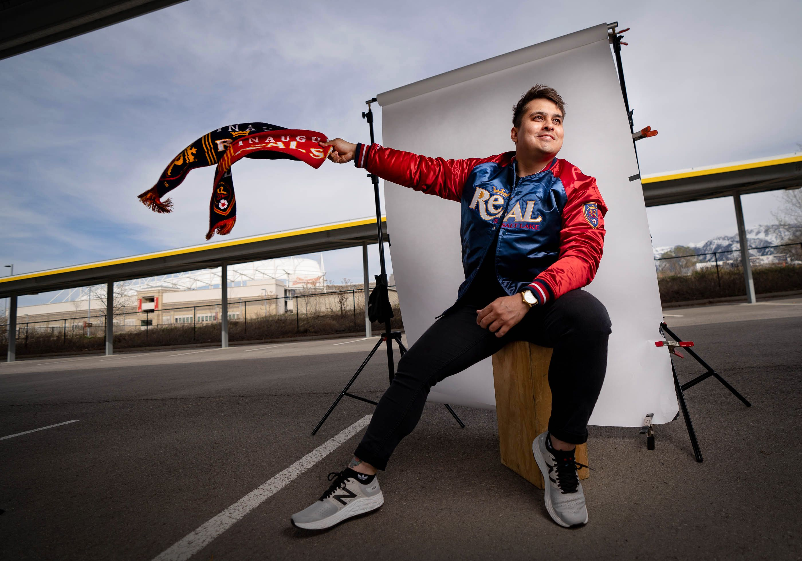 (Francisco Kjolseth  | The Salt Lake Tribune) Andy Muñoz, whose father is an ardent fan of Mexican soccer, has rooted for RSL for 12 years. He says the connection between Hispanic fans and RSL has dwindled in recent years and needs some rededication.