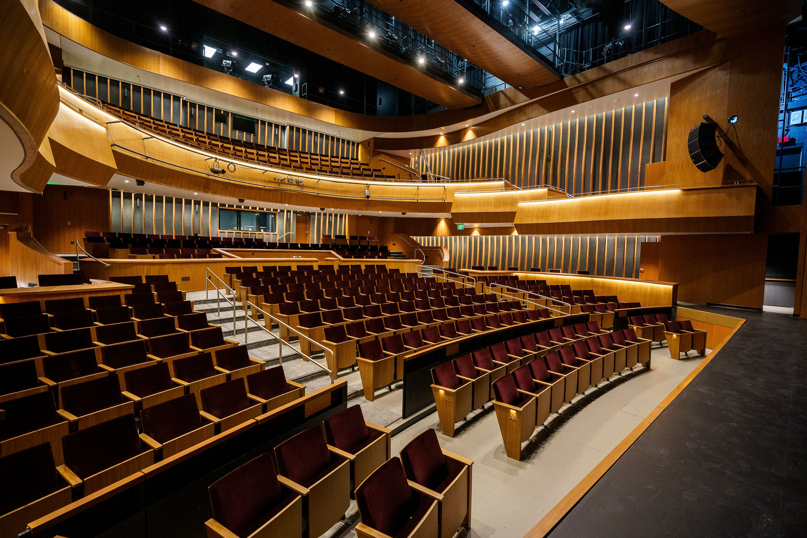 (Trent Nelson  |  The Salt Lake Tribune) Mainstage Theater at the new Mid-Valley Performing Arts Center in Taylorsville on Friday, May 21, 2021.